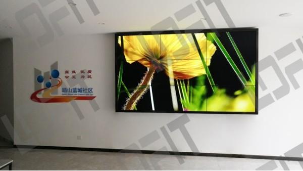 无锡晴山蓝城社区选择洛菲特拼接屏用于宣传展示