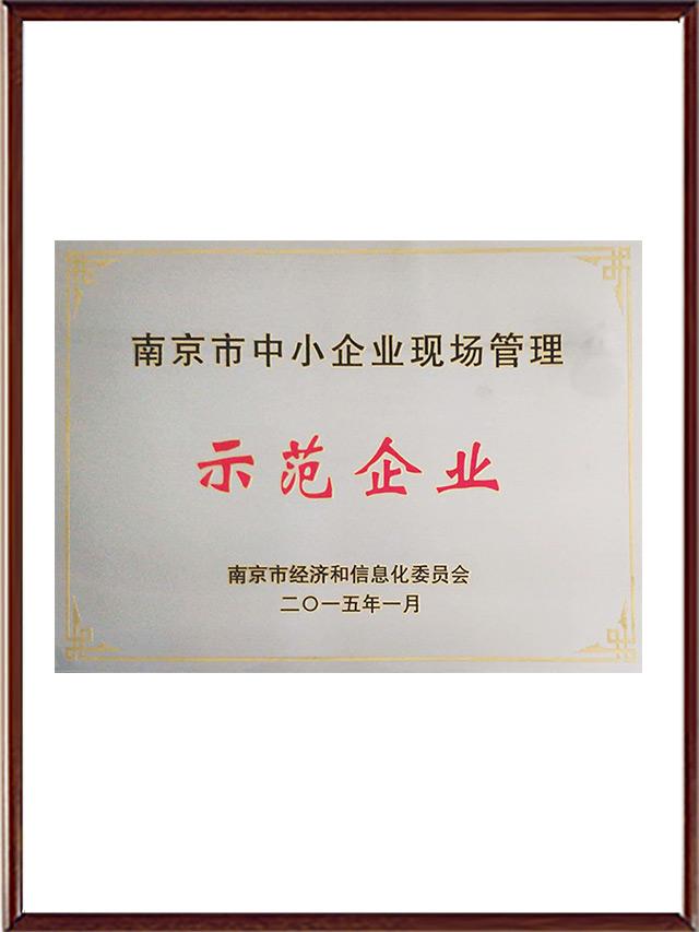 南京市中小企业现场管理证书