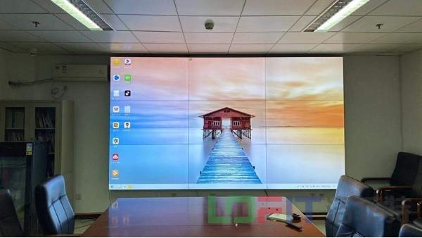 洛菲特0.88拼缝拼接屏助力北京海淀区火箭军某部中心会议室